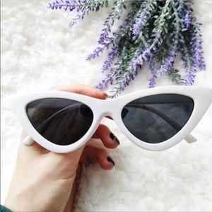 Keva Cat Sunglasses (White)